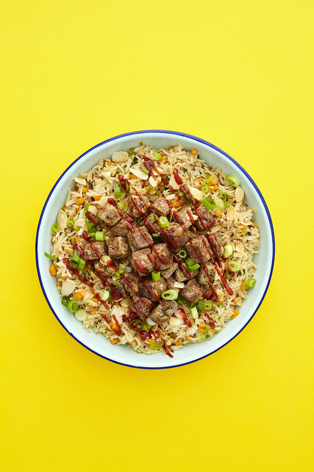 Teriyaki Cubed Fried Rice