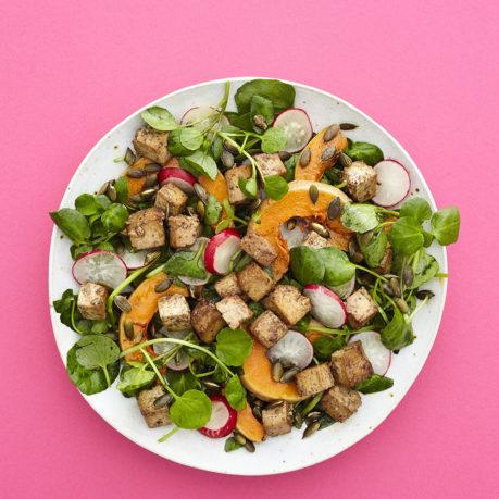 Teriyaki Cubed Pumpkin Salad