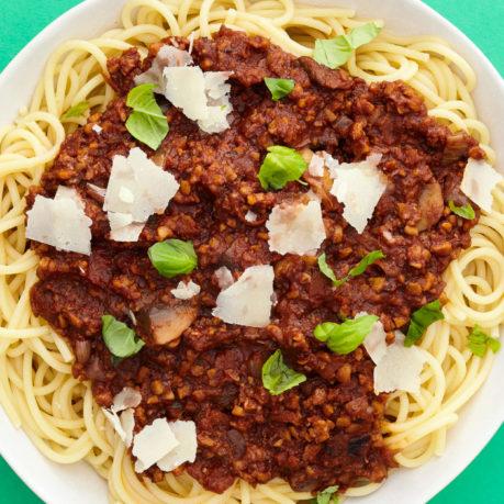 Tempeh Spaghetti Bolognese