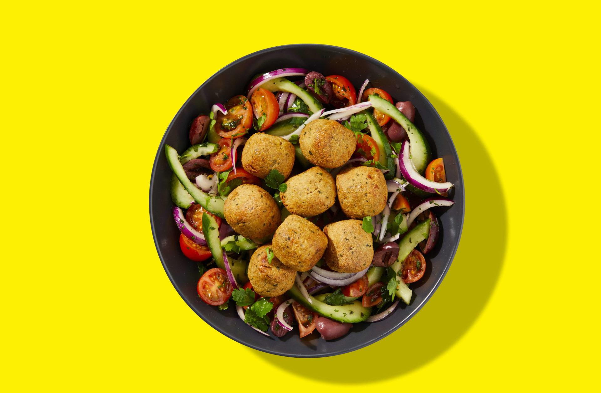 Tofoo Falafel Greek Salad